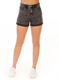 Dex charcoal denim mom short 1722786