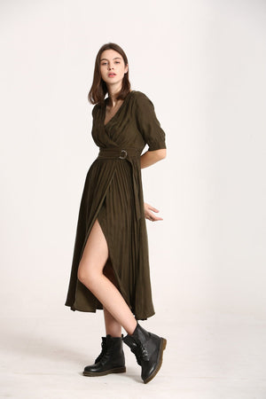 The Korner khaki dress 20229020