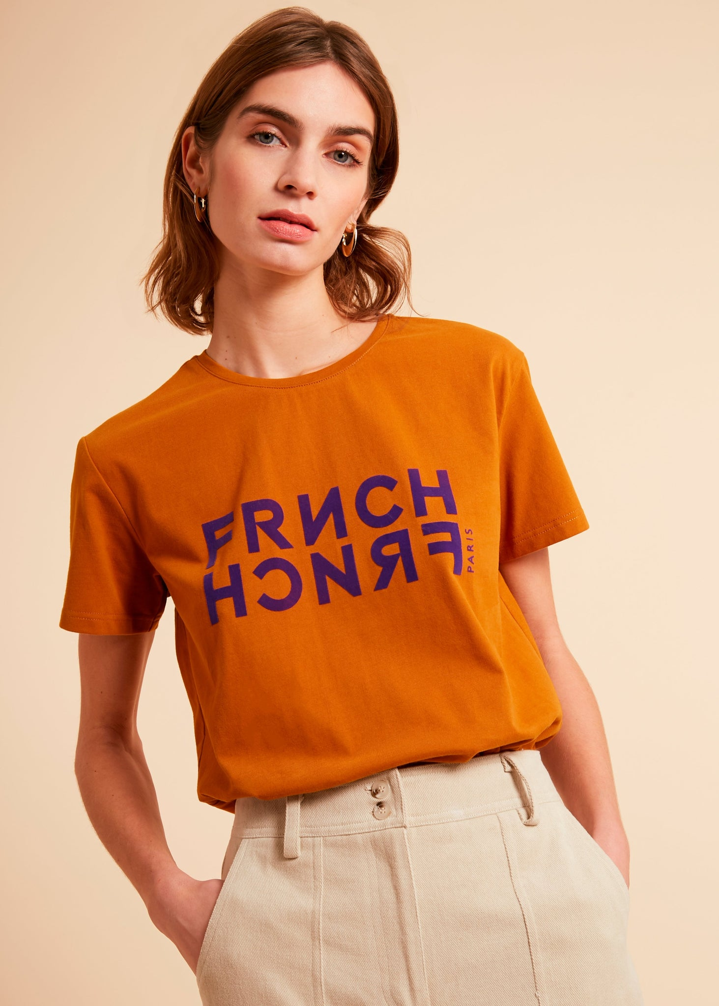Frnch Frnch t-shirt gold