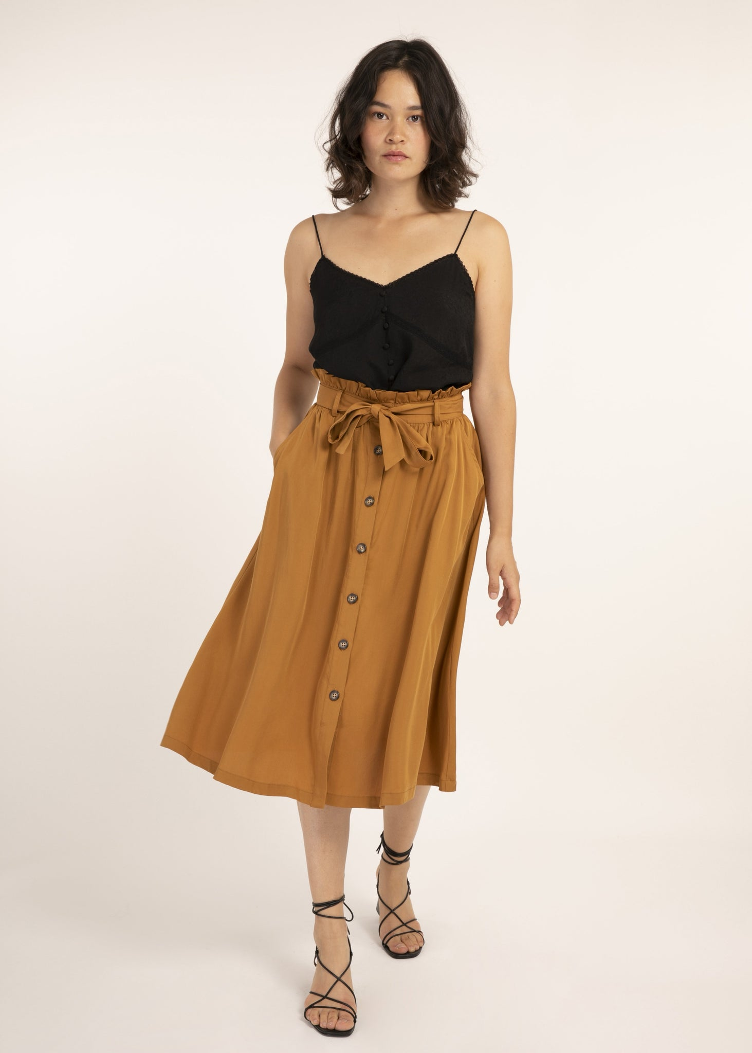 Frnch Ece skirt ocre F11415