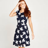 Apricot women dress navy 434394