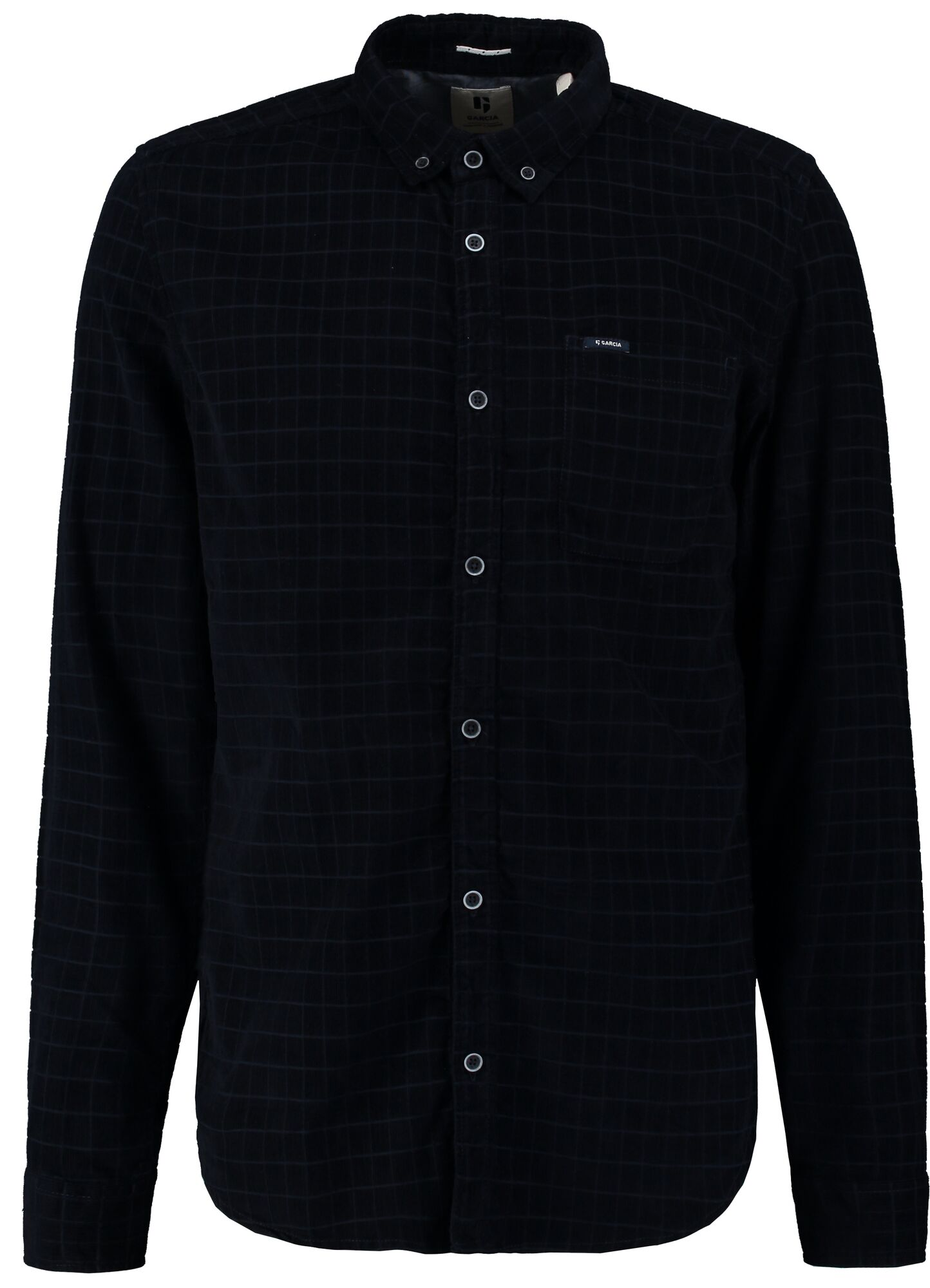 Garcia men's navy velour shirt U01034