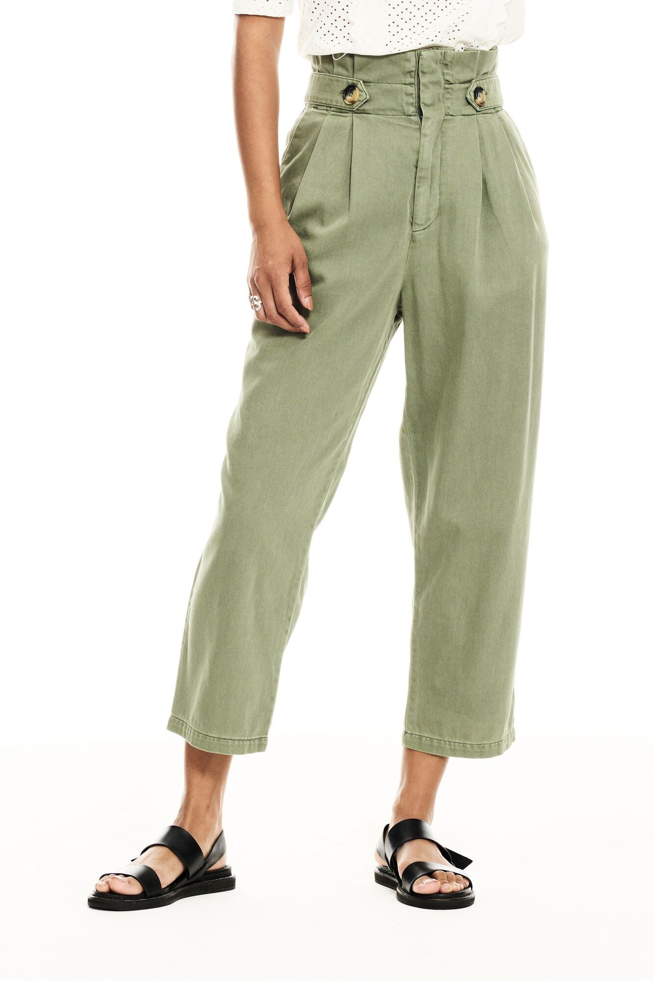 Garcia high waist pants khaki C10310