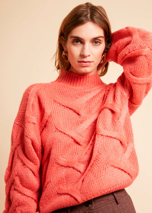 Frnch MS20-36 Naia sweater coral