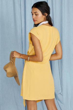 Sage the label, women, dress, yellow, sunbaked wrap