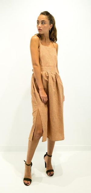 See u soon women dress camel 20121095b