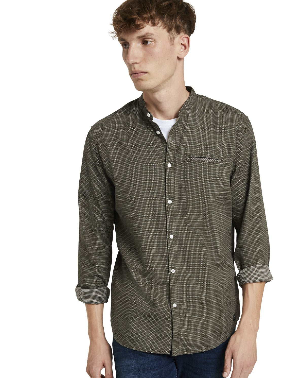 Tom Tailor 1020173 men's shirt khaki