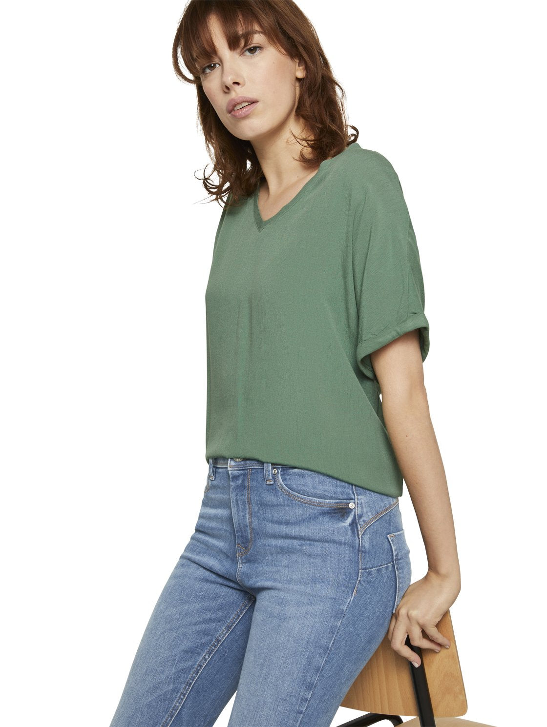 Tom Tailor green top 1021553
