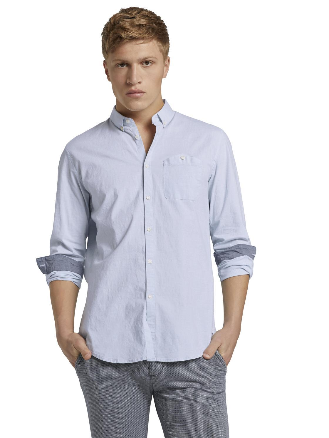 Tom Tailor 1020189 men's shirt blue