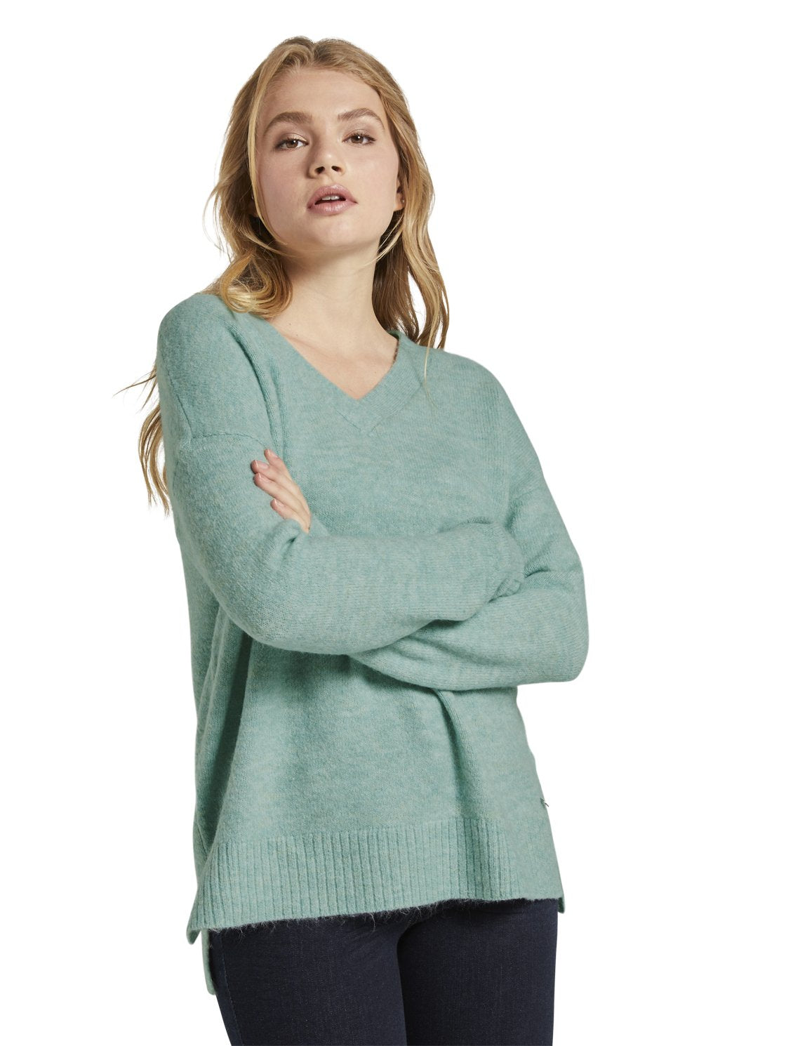 Tom Tailor 1021144 sweater green