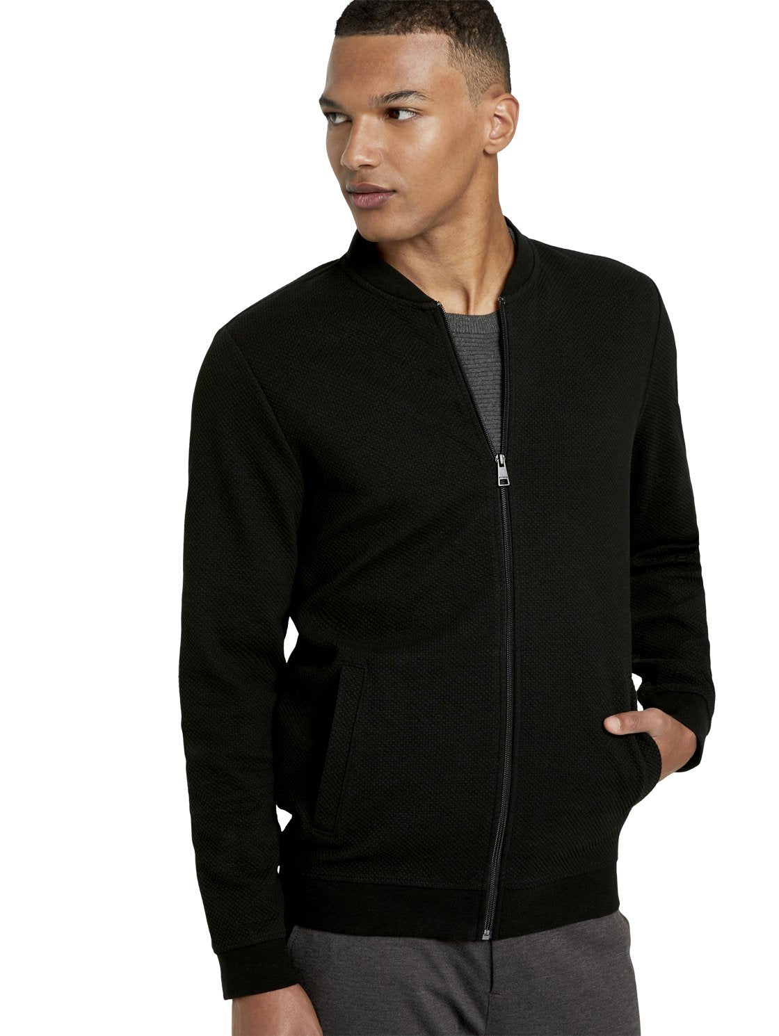 Tom Tailor bomber sweater 1020196 black