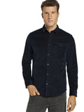 Tom Tailor 1021888 corduroy shirt navy