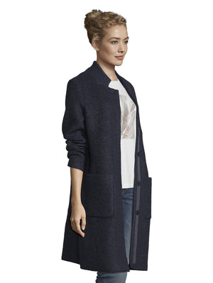 Tom Tailor navy woolblend coat 1020582