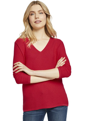 Tom Tailor red sweater 1022219