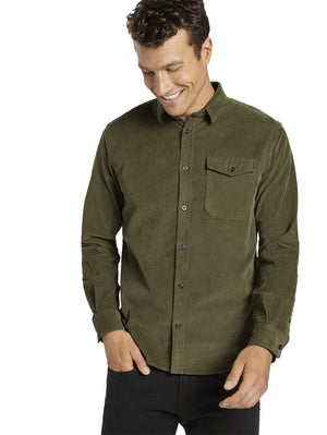 Tom Tailor 1021888 corduroy shirt green