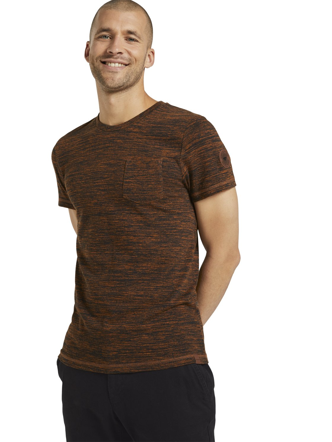 Tom Tailor men's t-shirt brown 1022220