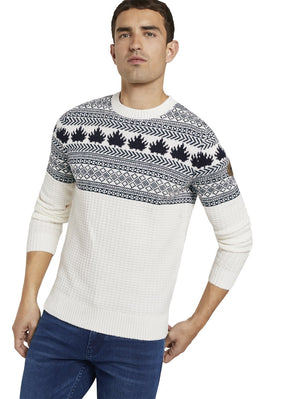 Tom Tailor men's offwhite sweater 1022494