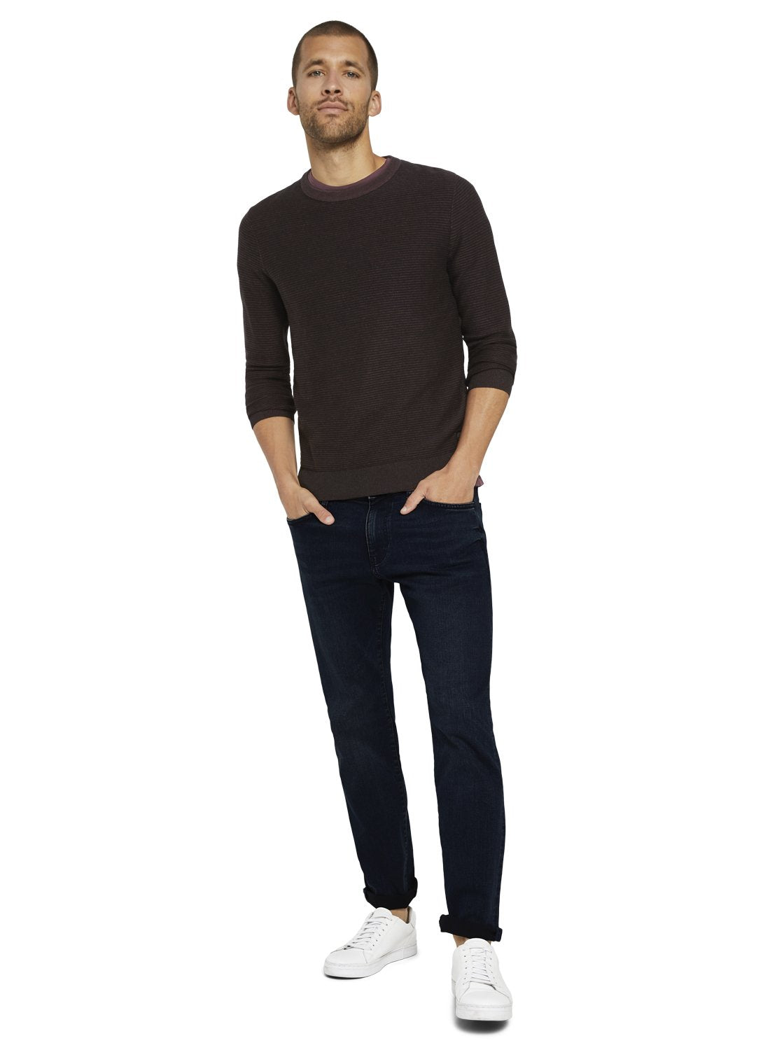 Tom Tailor 1020416 men's burgundy sweater