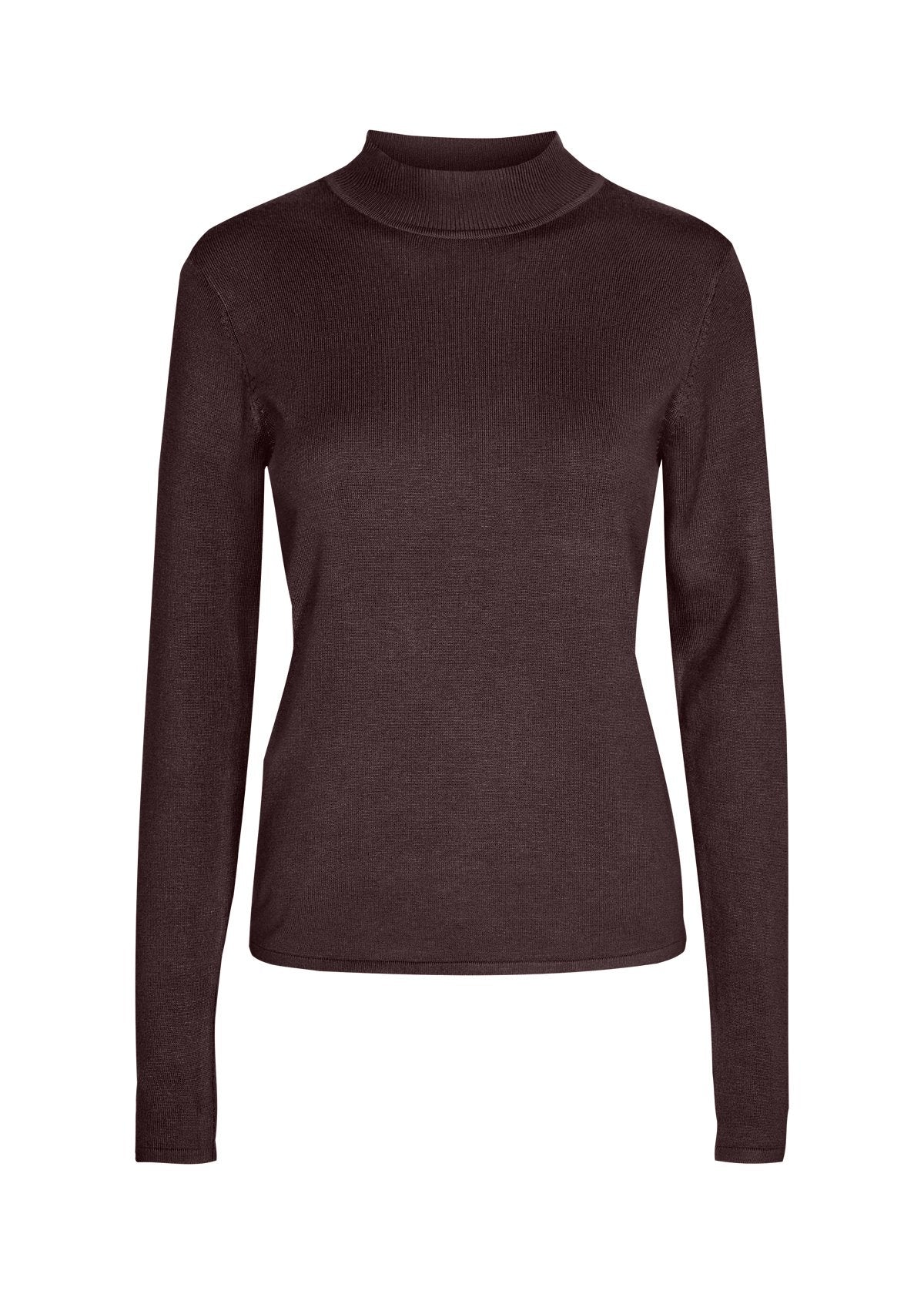 Soya Concept mock neck sweater 32993 maroon
