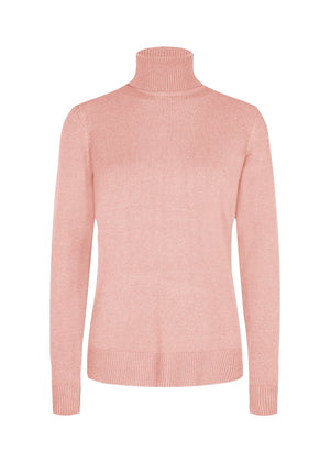 Soya Concept Blissa 11 pink turtleneck sweater 33003
