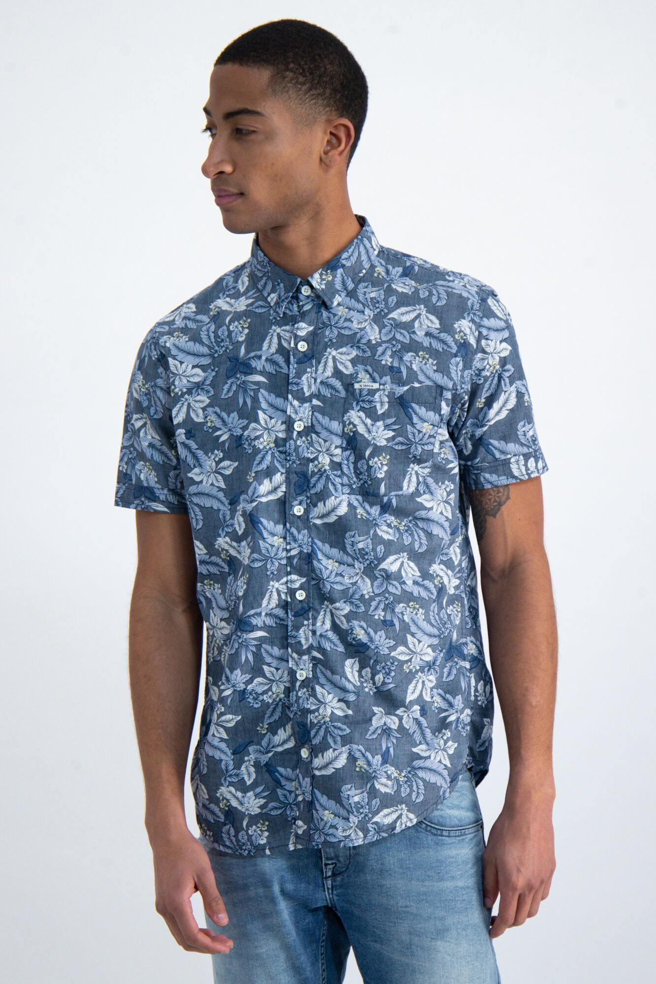Garcia men shirt blue o01037