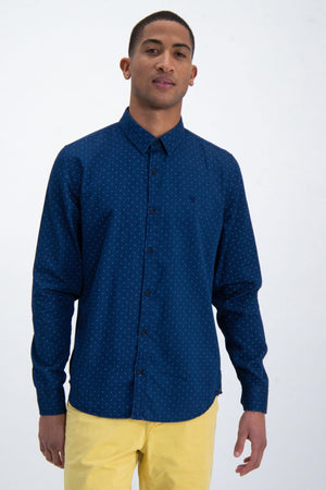 Garcia men shirt indigo o01033