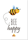 poster bee happy - Print je Feestje