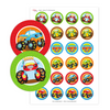 monstertruck traktatie cupcake toppers - print je feestje