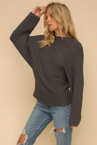 MOCK NECK DOLMAN SWEATER TOP