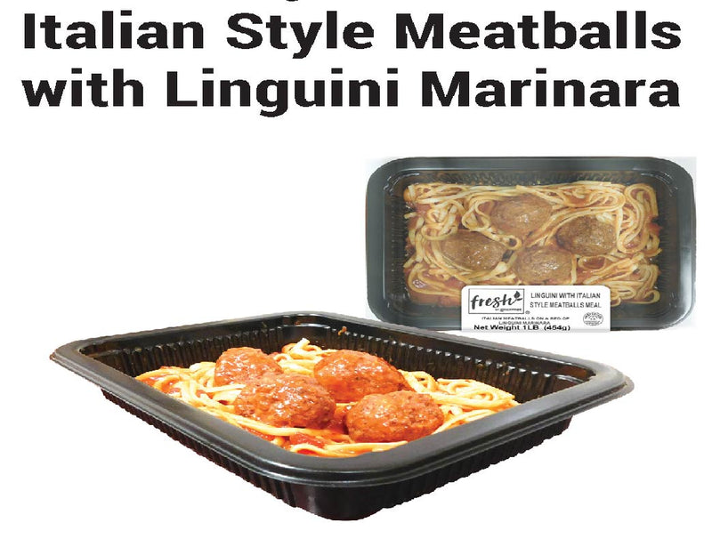 Italian Style Meatballs with Linguini Marinara