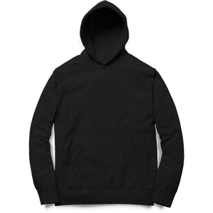 PLAIN BLACK - UNISEX HOODIE - Patch Fusion