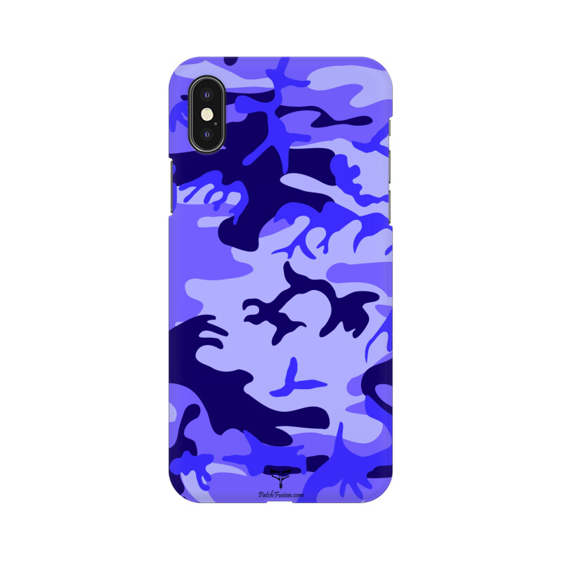 BLUE CAMOUFLAGE - MOBILE CASE - Patch Fusion