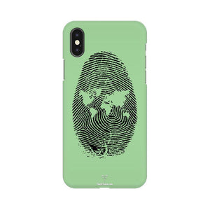 WORLD MAP FINGERPRINT - MOBILE CASE - Patch Fusion