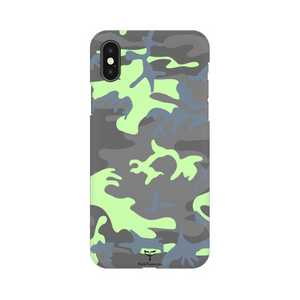 GREY GREEN CAMOUFLAGE - MOBILE CASE - Patch Fusion