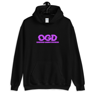 OGD : OBSESSIVE GAMING DISORDER - BLACK UNISEX HOODIE - Patch Fusion