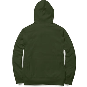 PLAIN OLIVE GREEN - UNISEX HOODIE - Patch Fusion