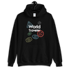 WORLD TRAVELER - BLACK UNISEX HOODIE - Patch Fusion