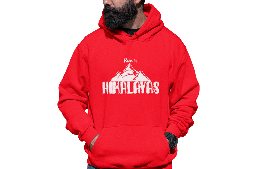 BORN IN HIMALAYAS - UNISEX HOODIE - Patch Fusion
