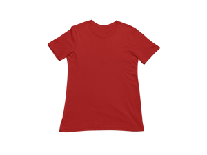 RED HALF SLEEVE T-SHIRT - Patch Fusion