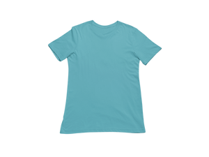 SKY BLUE HALF SLEEVE T-SHIRT - Patch Fusion