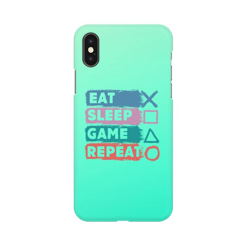 EAT SLEEP GAME REPEAT - MOBILE CASE - Patch Fusion