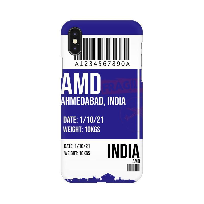 AHMEDABAD BOARDING PASS - MOBILE CASE - Patch Fusion