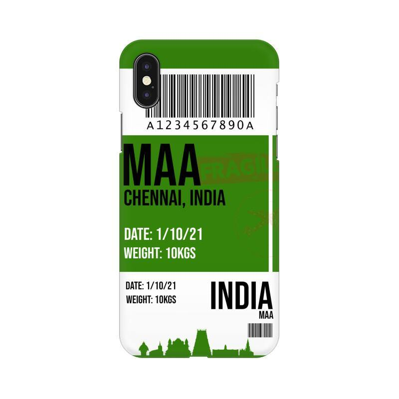 CHENNAI BOARDING PASS - MOBILE CASE - Patch Fusion