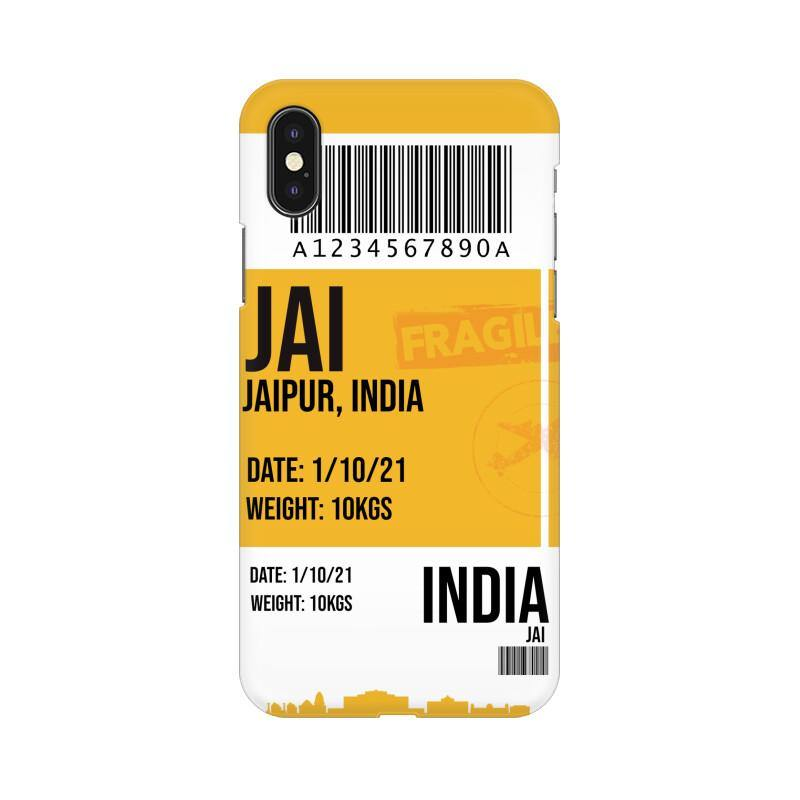 JAIPUR BOARDING PASS - MOBILE CASE - Patch Fusion