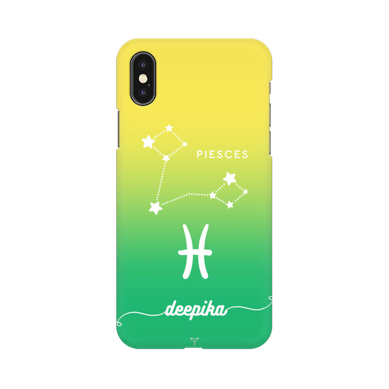 CUSTOMIZABLE PIESCES ZODIAC SIGN PHONE CASE