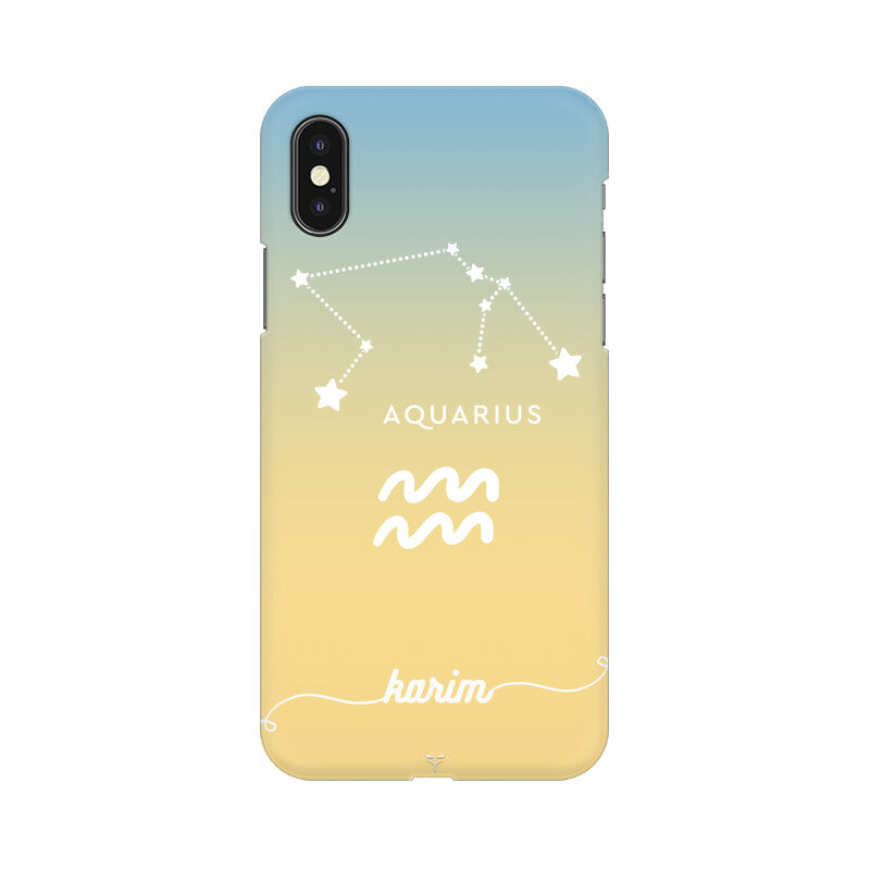CUSTOMIZABLE AQUARIUS ZODIAC SIGN PHONE CASE