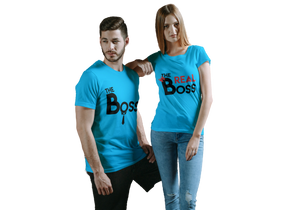 THE BOSS - THE REAL BOSS COUPLE T-SHIRT