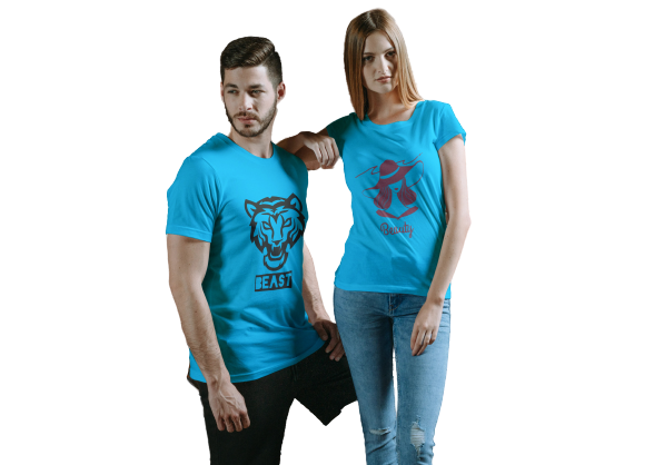 BEAUTY & BEAST COUPLE T-SHIRT