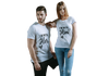 I AM WITH HIM / HER COUPLE T-SHIRT