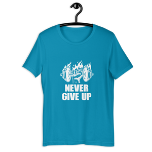 NEVER GIVE UP T-SHIRT - Patch Fusion